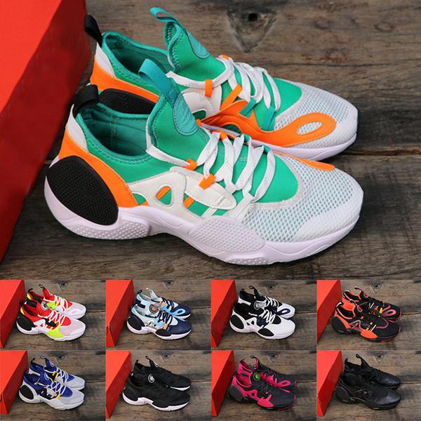 2019 Colorway Huarache 7 Erkek Koşu Ayakkabıları KENAR TXT Üçlü Siyah Beyaz Yeşil Tasarımcı Kadın Sneakers Atletizm Eğitmenler Spor Ayakkabı