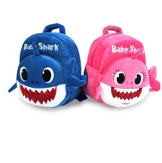 Baby shark rucksäcke kinder plüsch schultaschen cartoon 3d rucksack tier gedruckt buch taschen kinderegarten taschen reise umhängetasche totes b4511