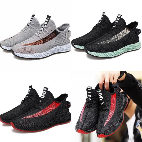 Vente chaude Homme Volant tricotant Maille Chaussures Hommes Classique Casual chaussures Mâle PVC Résistance À L'usure Lumière Fond Mou Antidérapant Chaussures Chaussures 39-4