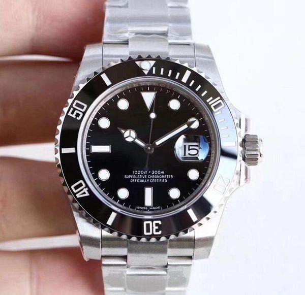 top popular U1 Factory Hot Wristwatches Sapphire Black Ceramic Bezel Stainless Steel 40mm 116610LN 116610 Automatic Mechanical Mens Men Watch Watches 2019