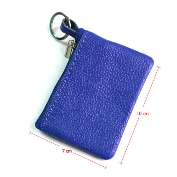 Casual Women Housekeeper For Home Fashion Leather Key Wallet Slim Coin Pouch Case Man Car Holder Keyring Organizer