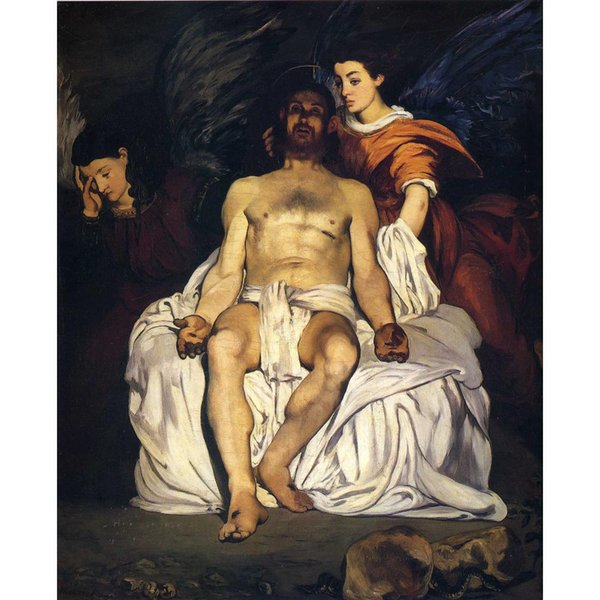 Famous portrait paintings by Edouard Manet canvas artwork The Dead Christ with Angels hand painted High quality