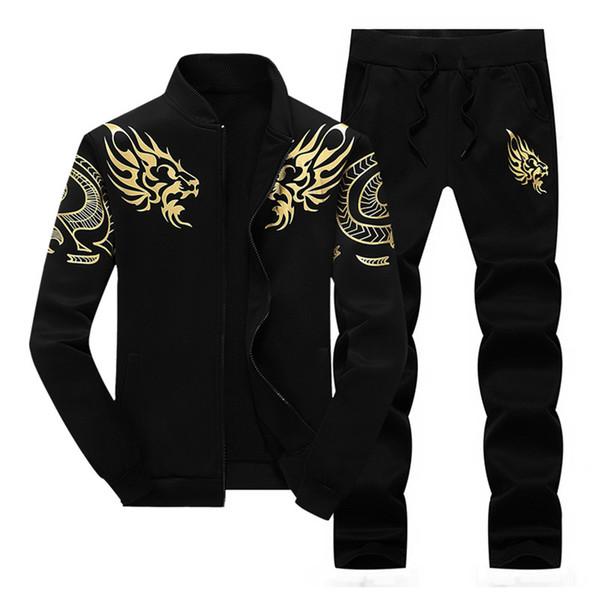 2018 otoño nuevo traje de manga larga de los hombres de moda casual ropa deportiva chaqueta de la ropa sudadera