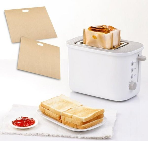 2pcs Toaster Bags for Grilled Cheese Sandwiches Made Easy Reusable Non-stick Baked Toast Bread Bags Baking Pastry Tools 452