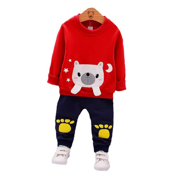 Baby Boy Girl Clothes Fashion Children Bear T-shirt Pants 2Pcs/Sets Kids Cartoon Clothing Suits Spring Autumn Toddler Tracksuits