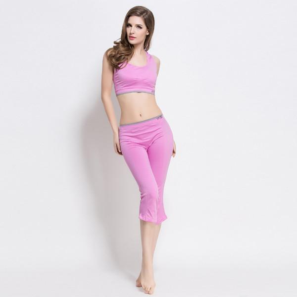 2017 2 stücke frauen yoga set crop top shirts + dünne legging capri hosen sport sets gym laufbekleidung
