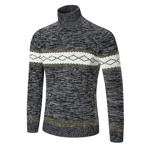 2019 2018 Crossborder Express Amazon Specializes In Mens Diamond Highcollar  Sweaters And Longsleeved European And American Fashion Knitted Sweate From