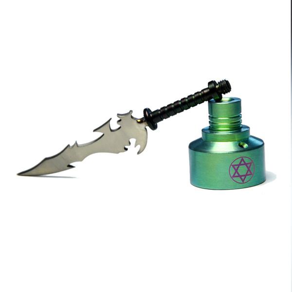 Titanium Nail Titanium Sword Type with titanium carb cap nail dabber Wax Dab Carving Tool For Smoking