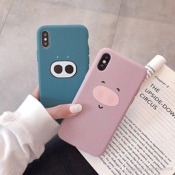 belle8 Lovely pig nose iphonex mobile phone case for Apple XS Max couples XR/8plus/7p women's 6s