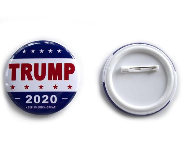 Trump Metal Badge 2020 Pines de hojalata Presidente de los Estados Unidos Campaña republicana Broche político Abrigo Joyería Broches Regalos