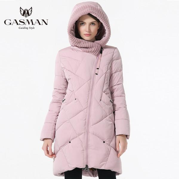 c90b11349a3 GASMAN 2018 New Winter Collection Brand Fashion Thick Women Winter Bio Down  Jackets Hooded Women Parkas