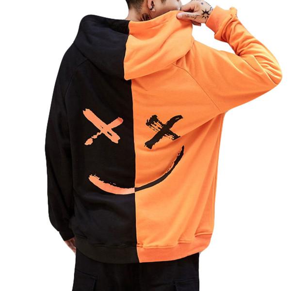 Großhandel Sweatshirts Männer Lächelndes Gesicht Mode Gedruckt Hoodie Mens 2019 Neue Frühling Herbst Pullover Teenager Sweatshirt Homme 19JAN9 Von