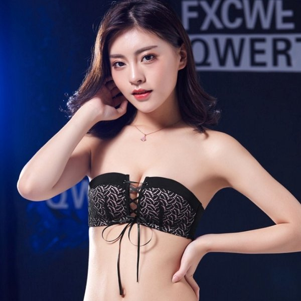 Sexy Lingerie Brassiere Top Push Up Seamless Invisible Lace Bras Female Pull B Underwear Women Wireless Strapless Bra C19040401