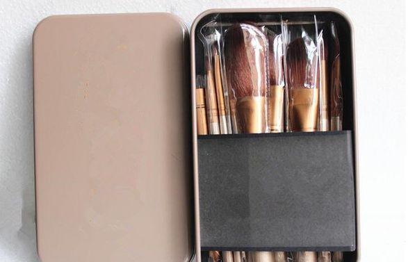 Face makeup 12pcs/set NK3 foundation BRUSH SET Softbale Synthetic professional cosmetic makeup brushes with Tin Box
