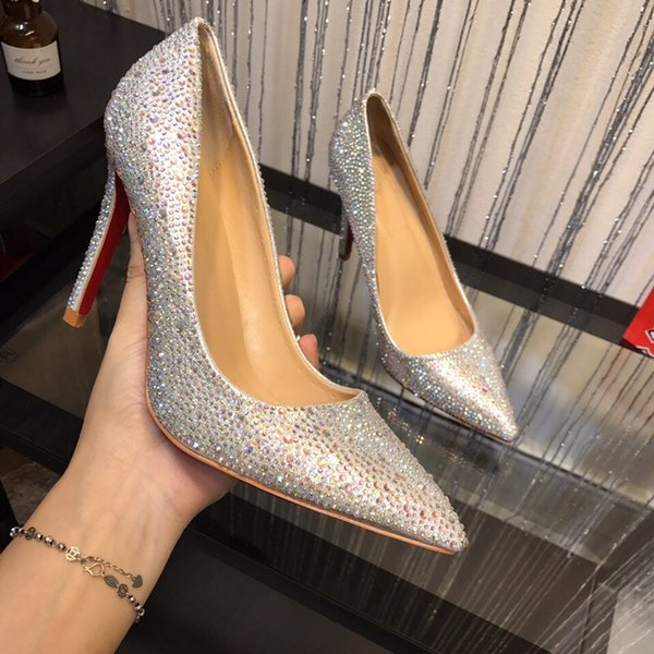 omen Black Sheepskin Nude Patent Leather Poined Toe Women Pumps Fashion High Heels Shoes for Women Wedding shoes sd190712