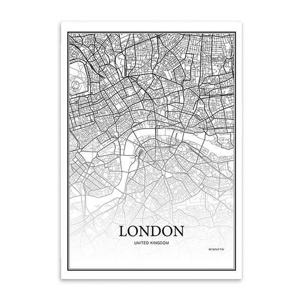 30x40cm No Frame Londres