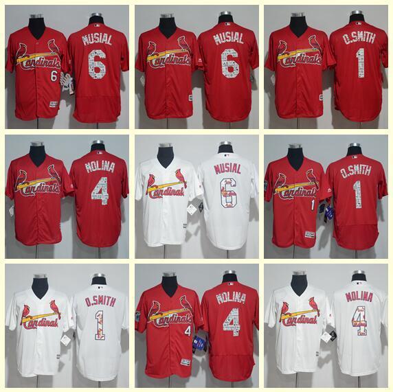 2019 hommes vous femmes St. Louis Cardinals Majestic Fashion Scarlet Flex Base Collection Authentic Maillot de baseball rouge / blanc personnalisé