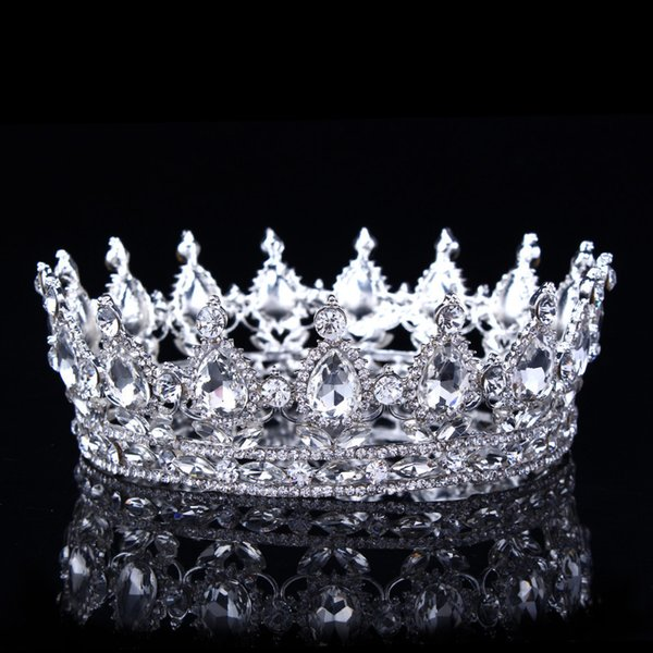 Hot European Designs Vintage Peacock Crystal Tiara Wedding Crown Bridal Tiara Accessories Rhinestone Tiaras Crowns Pageant Y19051302