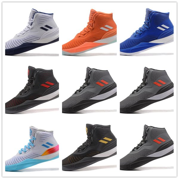 Luxury men's black gold white blue high-top cushion-wear basketball shoes men's high-quality sports boots flame sneakers size 40-45 a18