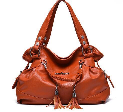 Sac de femmes 2019 nouveau sac à main facture croisée en bandoulière les femmes et sur sac résistant à l'usure classique décontracté houppe confortable doux femmes de l'épaule connaissements