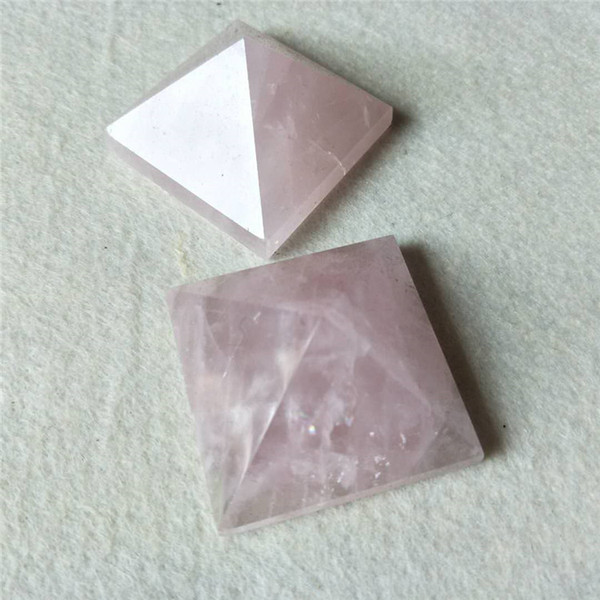 4cm Wholesale Natural Gemstone Rose Pink Quartz Crystal Carved Crystal Pyramid For Sale For Fengshui Decoration