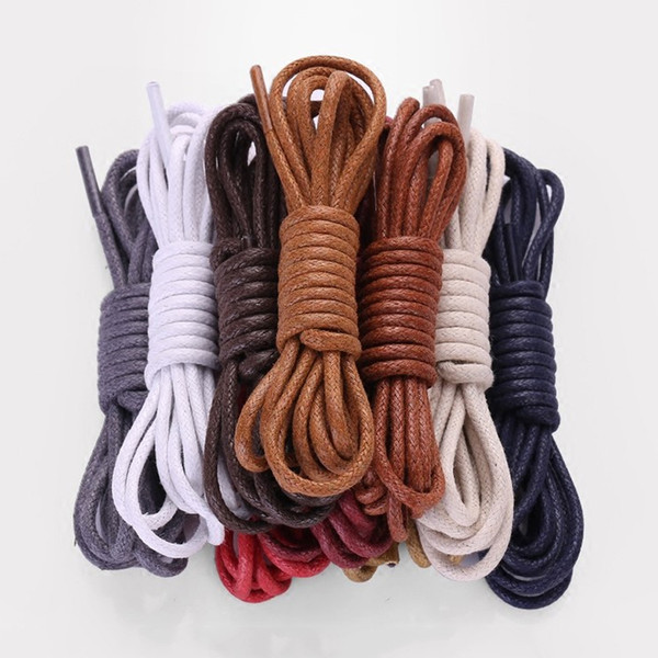 100cm Durable Coloured Round Waxed Cotton Shoelaces Men and Women Casual Martin Boot Sports Shoe Laces Cord Shoestring