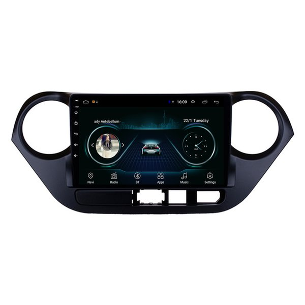 Android car mp3 mp4 player HD 1080 bluetooth smooth music front camera fast delivery for Hyundai I10 9inch