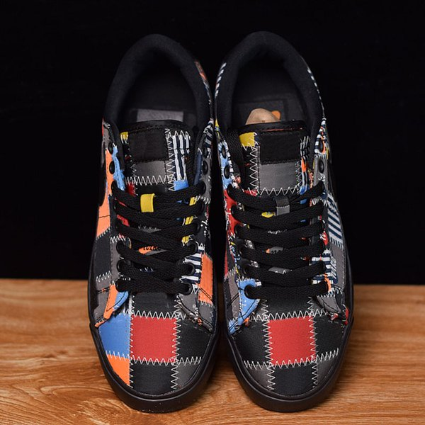 Blazering Multicolor Splicing Blue Orange Yellow Black Thread New Arrivals Running Shoes Low Designer Casual Sneakers Men Women With Box