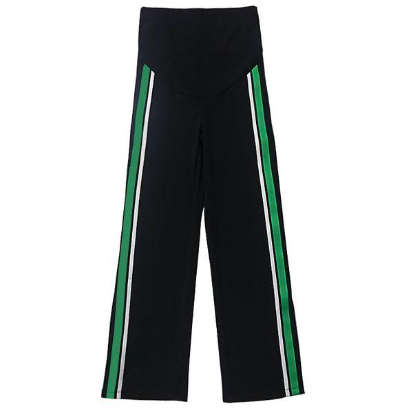 Fashion Maternity Sports Split Pants Sweatpants Pregnancy Clothes for Pregnant Women Casual Clothing Side Stripe Trousers C792