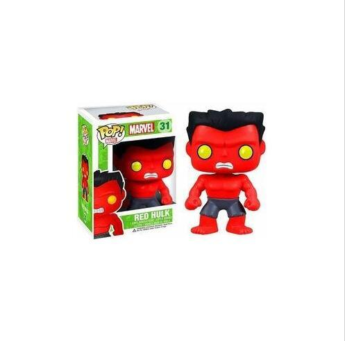 new arrival Funko Pop Marvel Comics Avengers Red Hulk Bobble Head Vinyl Action Figure with Box Toy Gift all style funko