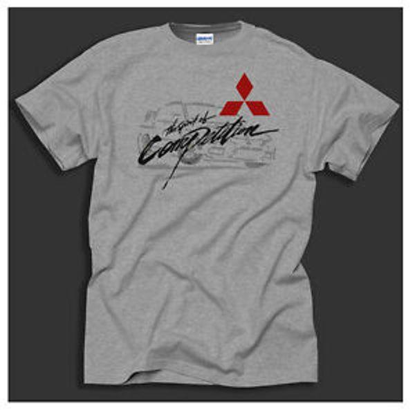 Mitsubishi Racing Evo Lancer Dakar Rally WRC Car Sport Grey T-Shirt Big Sizing