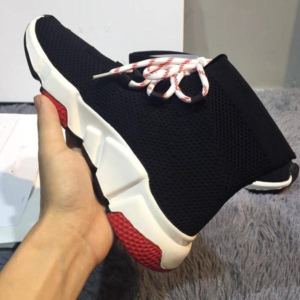 Neue Geschwindigkeit Socke Schuhe Hohe Qualität Geschwindigkeit Turnschuhe Männer Frauen Designer Schuhe Geschwindigkeit Stretch-stricken Mitte Stiefel Größe Eur 35-44 Modell FD05