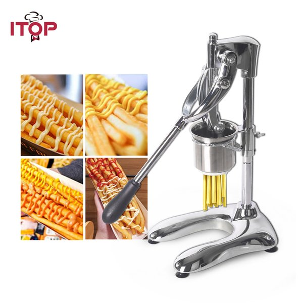 New Potato Chips Squeezers Machine Manual French Fries Cutters Long 30cm Potato Chip Squeezers Dough Cutter Kitchen Food Processors 6mm Hole