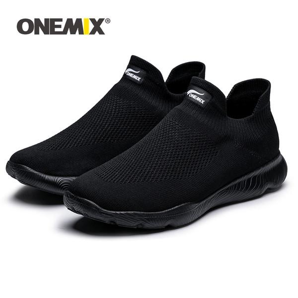 ONEMIX 2019 New Unisex Крытый Носок обувь Вязаные Mes Mesh Удобная скольжению на сандалии Men Casual обучения Кроссовки для прогулок