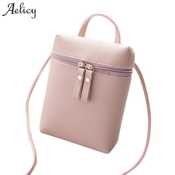 Cheap Aelicy 2018 Vintage Cute Small Handbags PU Leather Women Famous Brand Crossbody Bags Clutch Female Messenger Bag Women Small