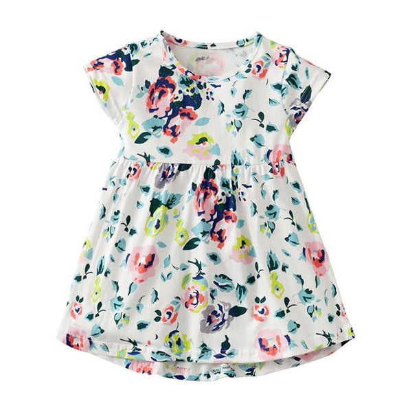 North European summer dresses for girls 2-7years christmas costumes for kids Short sleeve girl clothes dresses baby clothing Made In China