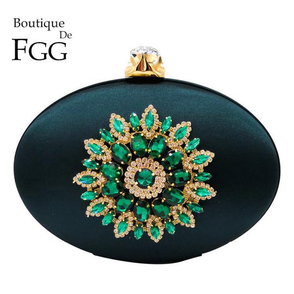 Women's Fashion Flower Crystal Clutch Handbag And Purse Ladies Evening Bags Wedding Party Chain Shoulder Bag