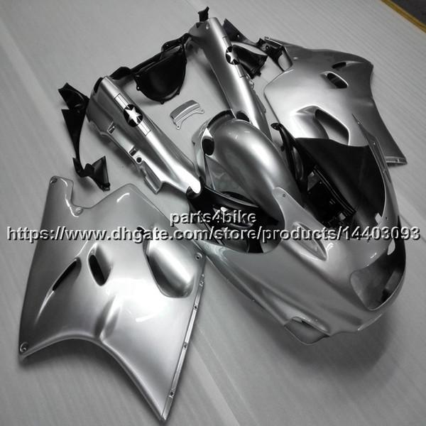 5Gifts ABS silver Fairing For Kawasaki ZX-11 ZZR1100 1990-2001 1991 1992 1993 1994 1995 1996 1997 1998 1999