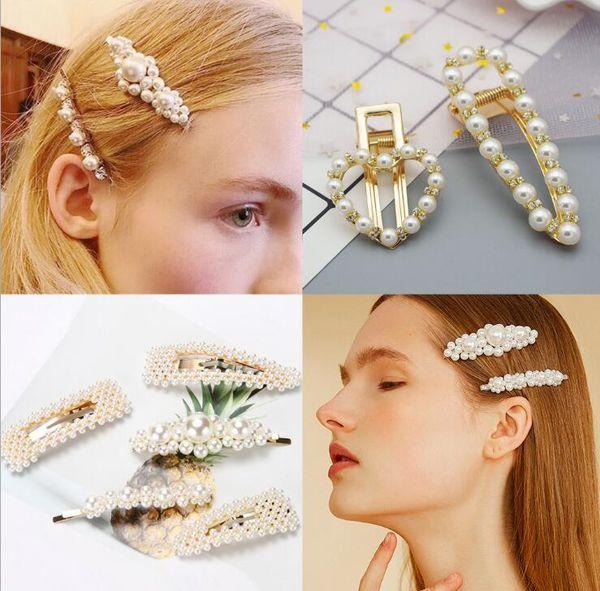 Épingles à cheveux de fleur de bijoux de perle blanche douce de mode, accessoire de cheveux pour les femmes cadeau d'anniversaire de femme mariage ornements de demoiselle d'honneur de mariage