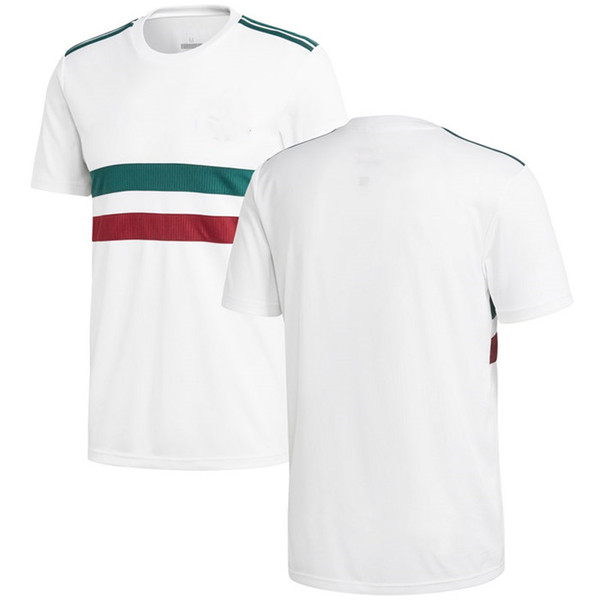 new concept 7c66e cb1c3 2019 Men Mexico League National Team Soccer 2018 Away Replica Blank  Football Jersey White Green Shirts Size S XL From Urbanfantasy, $13.2 |  DHgate.Com