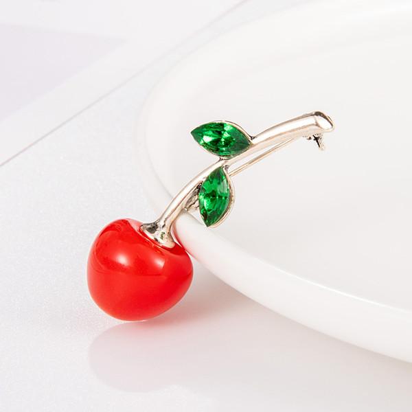 Forma alla moda dello smalto Frutta Spilla per le donne Green Leaf Spille Suit Lapel Pin Abbigliamento sciarpa Badges Seta Sciarpa Fibbia Pin # 1204