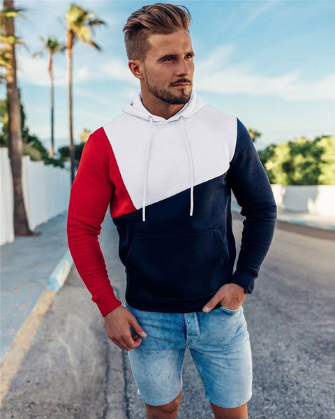 New Style Mens Designer Hoodies Fashion Contrast Color Long Sleeve Panelled Hooded Pullover Casual Mens Clothing Fashion Mens Clothing Women Clothing Mens Jeans Pants Hoodies Hiphop ,Women Dress ,Suits Tracksuits,Ladies Tracksuits Welcome to our Store