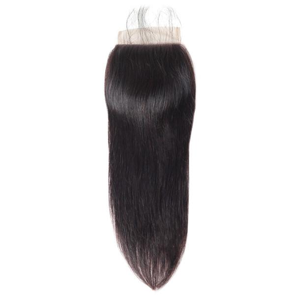 Blase Haar Europäischen Und Amerikanischen verworrenen Lockigen 4 * 4 Gerade Schließung Frauen Echthaar Blockieren Körperwelle Schließung