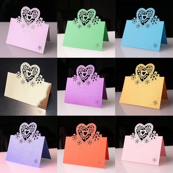 50pcs Wedding Inviting Card Supplies Decoration Lover Romantic Greeting Cards Place Postcards Favor Decor Seats Card 9x12cm
