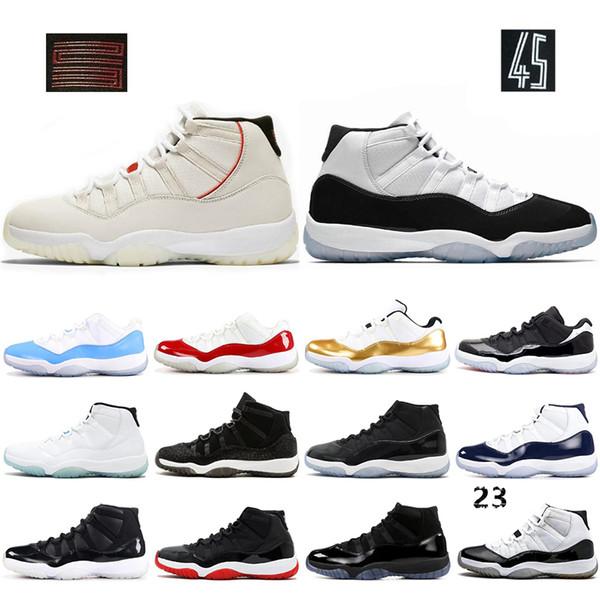 Basquete 2019 Sapatos 11 11 s Concord 45 Criados Cap E Vestido Dos Homens Das Mulheres Gama Azul Tatuagem Platina Sapato Esportes Sapatilha Tamanho 5.5-13