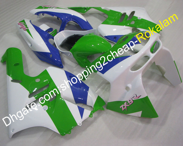 ZX-6R 1994 1995 1996 1997 Kit de carenado para Kawasaki ZX Ninja 636 ZX6R 6R Blanco Verde Azul Motocicleta Carrocería ABS Juego de carenados