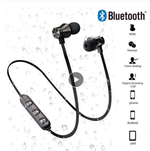 Promotion Nouveau Magnétique Sans Fil Bluetooth Écouteur Stéréo Sport Étanche Écouteurs Sans Fil In-Ear Casque avec Micro Pour IPhone 7 Samsung