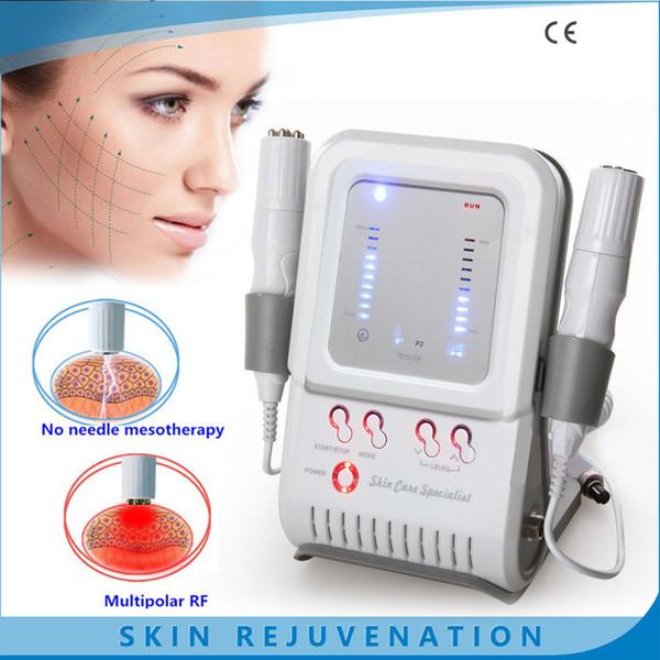 Venta caliente EMS Rejuvenecimiento de la piel Máquina de eliminación de arrugas Sin aguja Mesotheration Bipolar RF Radio Frecuencia Dispositivo de masaje corporal facial FG-200