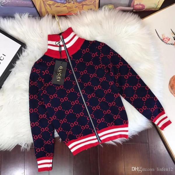 2d79 New Winter Kids Vestes Manteaux Haute Qualité Marque Coupe-Vent Chaud Tricots Coton Manteaux