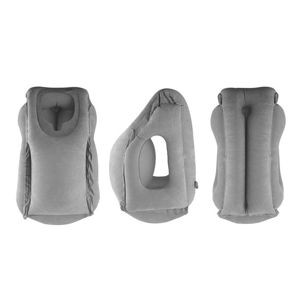 Tragbare aufblasbare Reisekissen-Luft-weiches Kissen-Reise-fauler Körper-rückseitige Unterstützung faltender Schlag Büro-Schlafenhalskissen